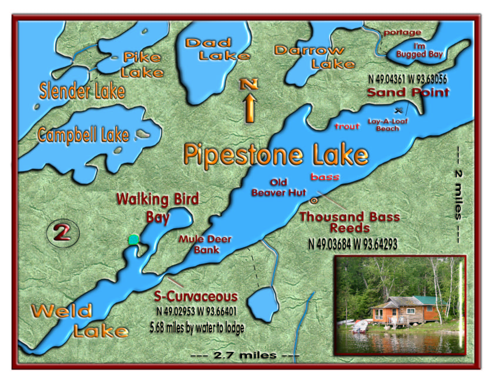 Weld Lake/Pipestone Trail map