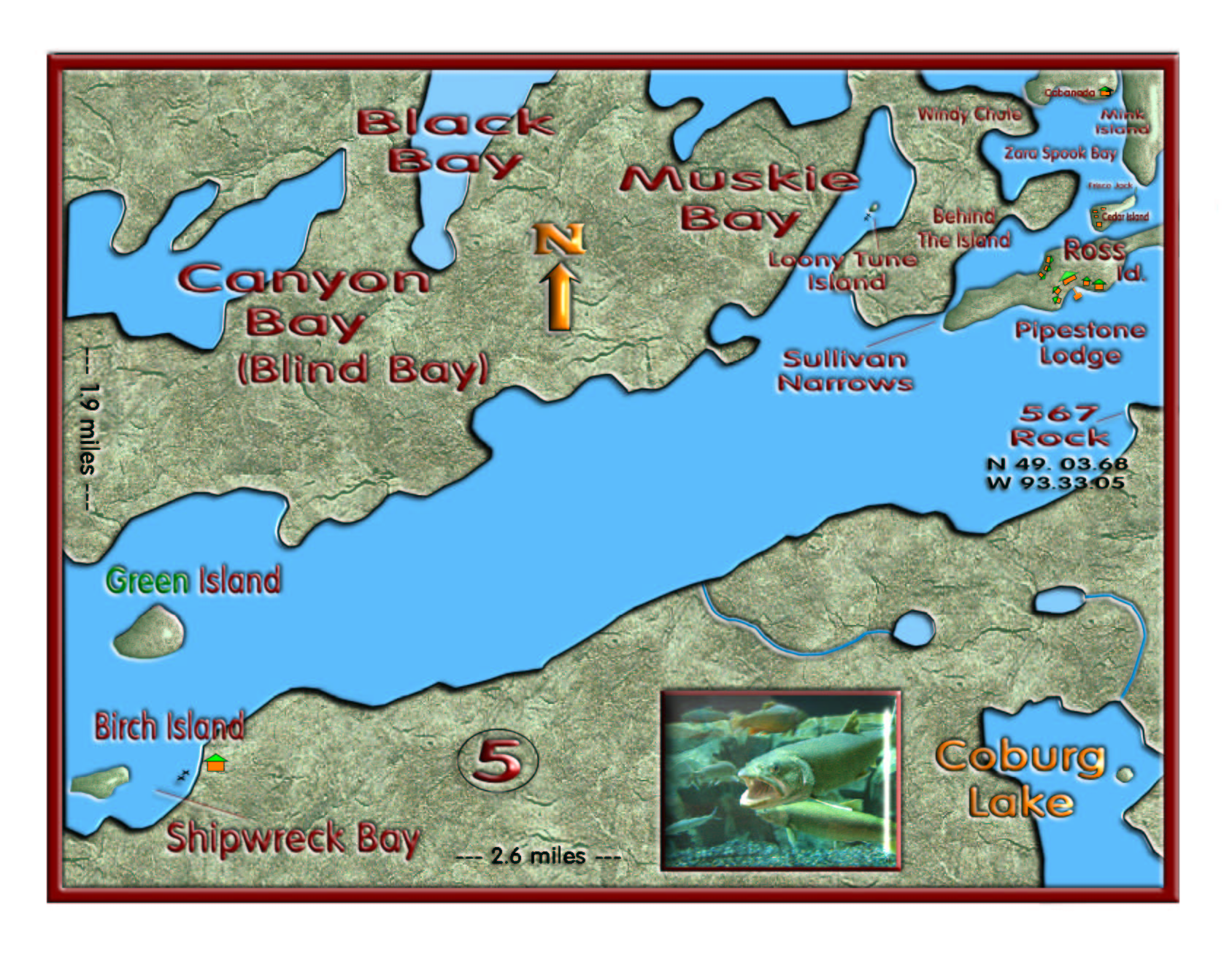 Pipestone Channel map