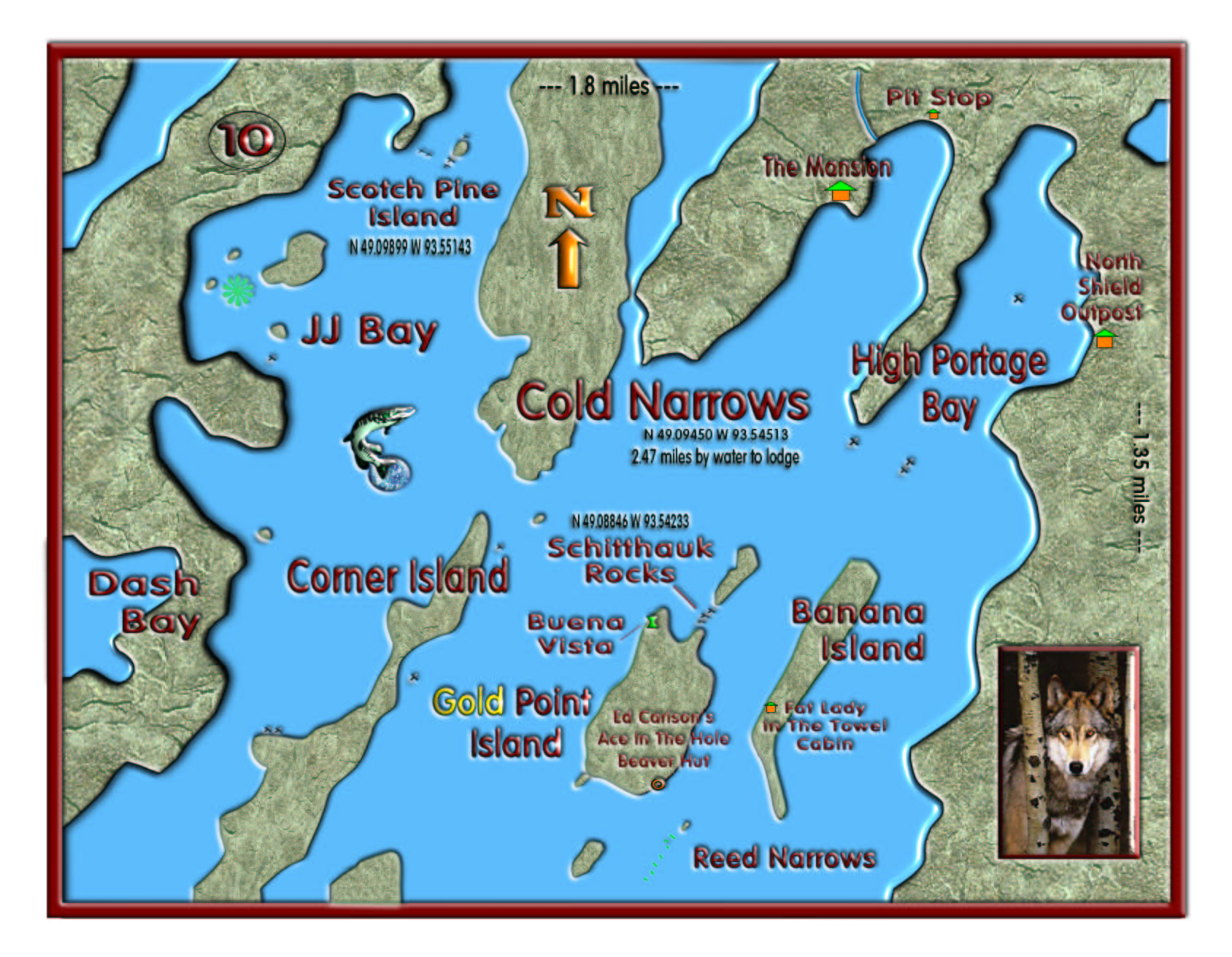 Cold Narrows map