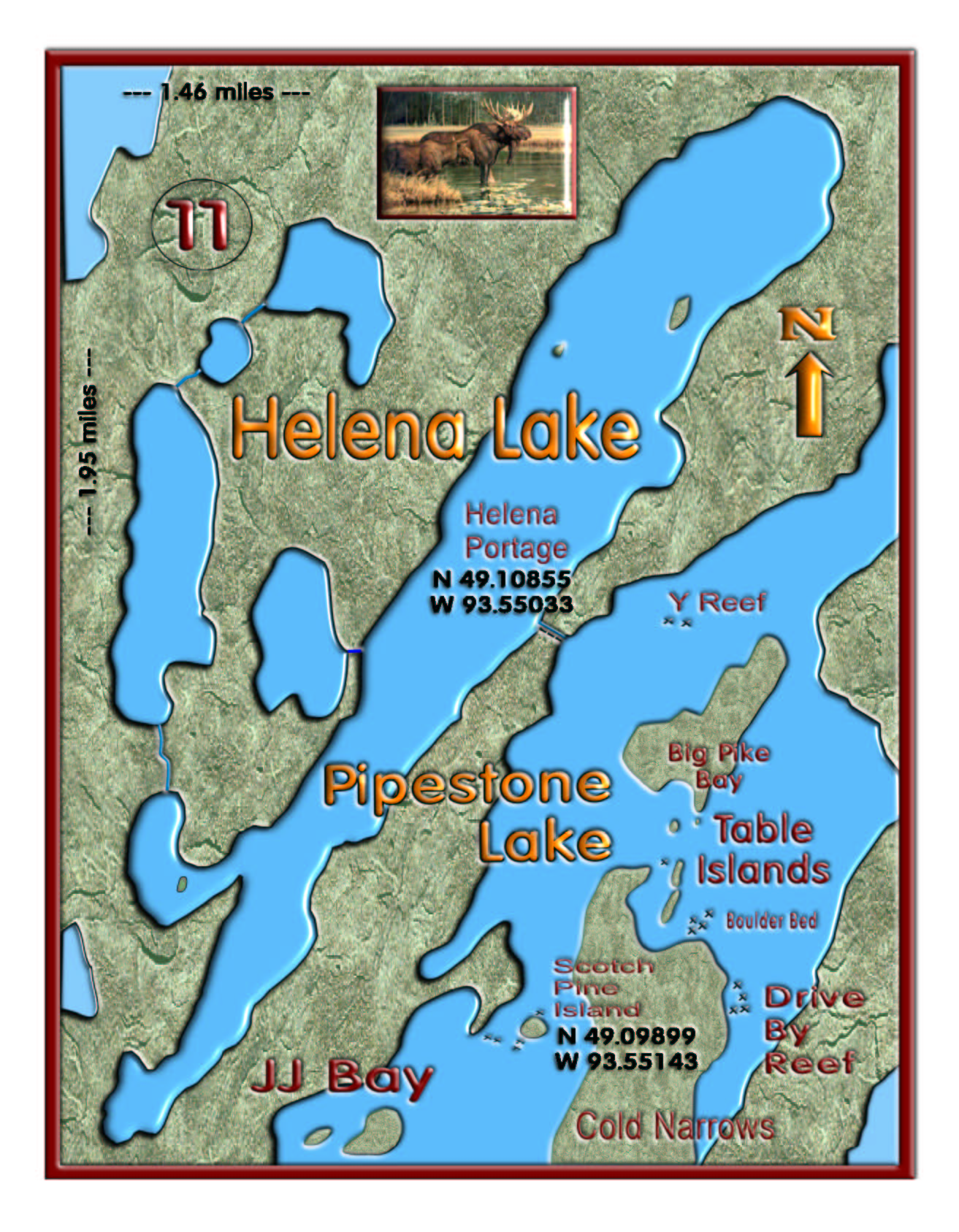 Helena Lake/Table Islands map