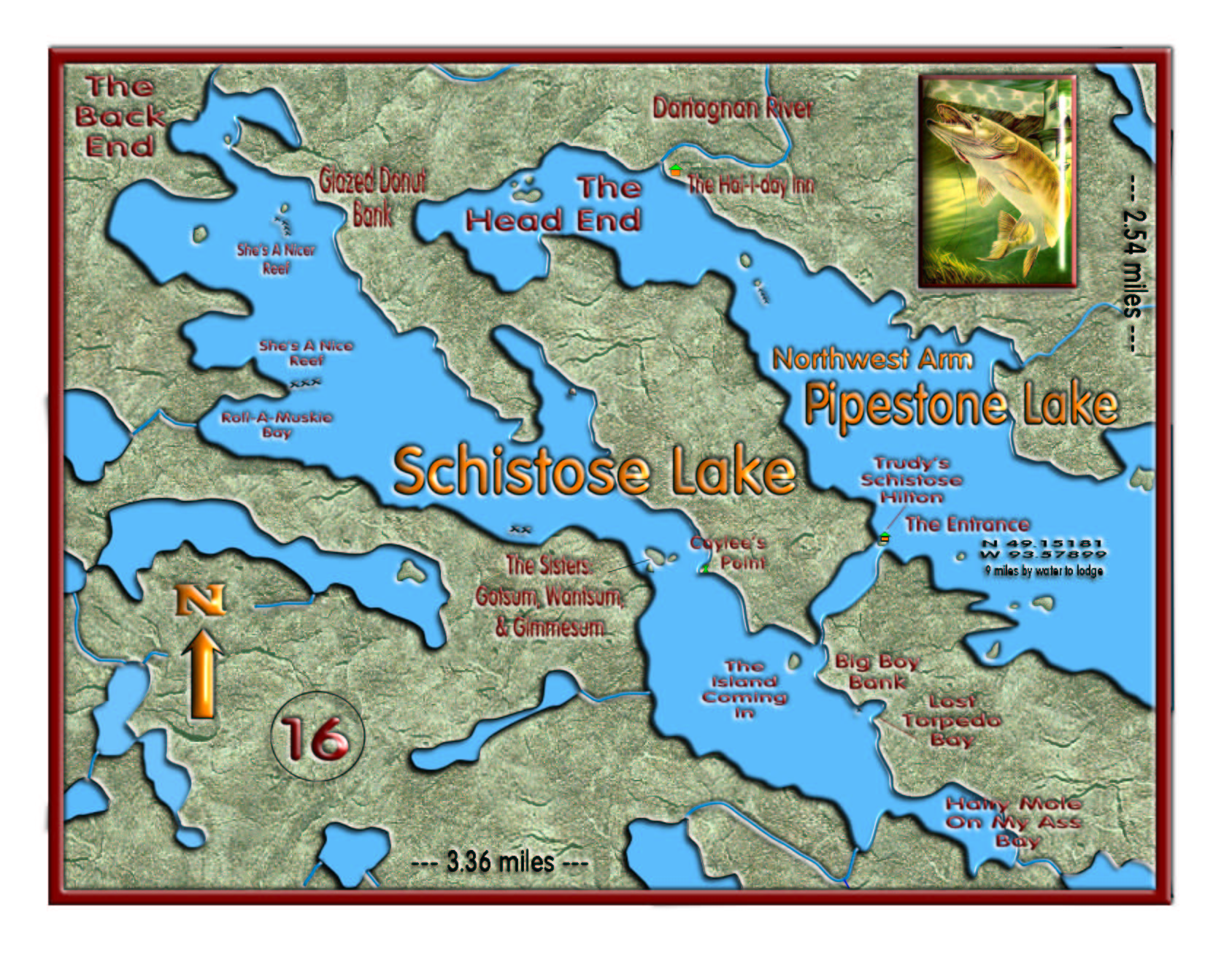 Schistose Lake/The Head End map