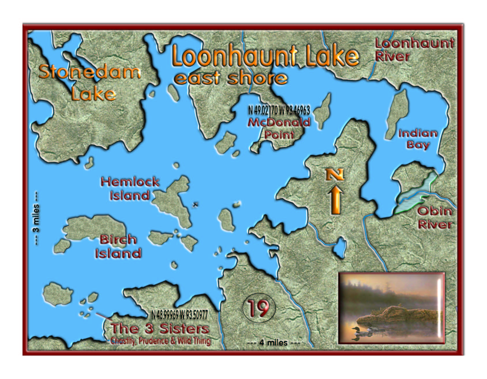 Loonhaunt East Shore map