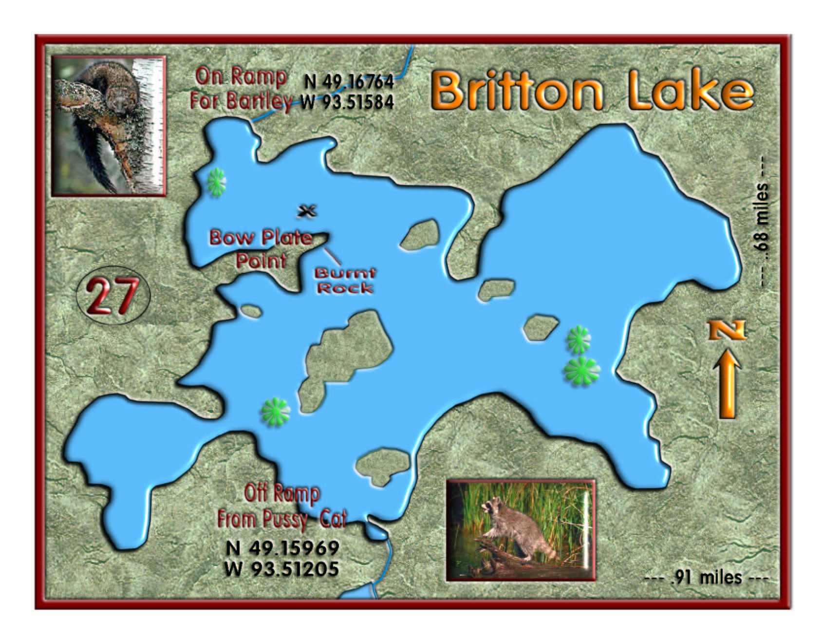 Britton Chain, Britton Lake map